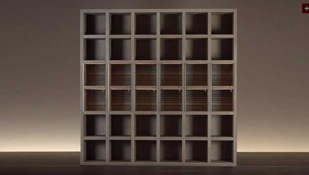 Modular Bookcase Contemporary Wooden Campiello 9