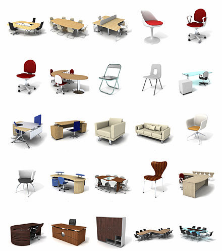 library office furniture. 2d3d object library office furniture dosch design office furniture l