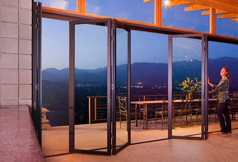 Sliding and stacking patio door / folding / aluminum / double-glazed - SL45 & Sliding and stacking patio door / folding / aluminum / double ... Pezcame.Com