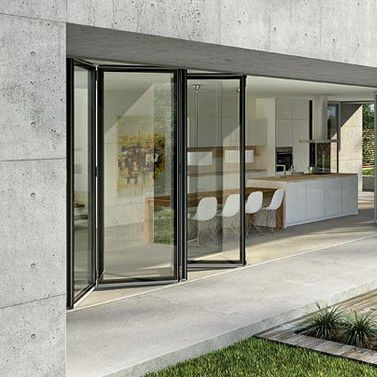 Sliding And Stacking Patio Door Folding Aluminum Triple Glazed