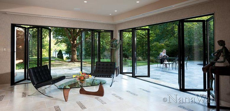 Sliding and stacking patio door / aluminum / double-glazed / thermal break SL60 NanaWall ... & Sliding and stacking patio door / aluminum / double-glazed ... Pezcame.Com