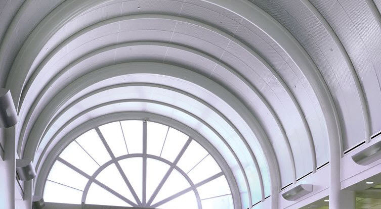 Metal Suspended Ceiling / Panel / Acoustic / Curved   RADIANS®