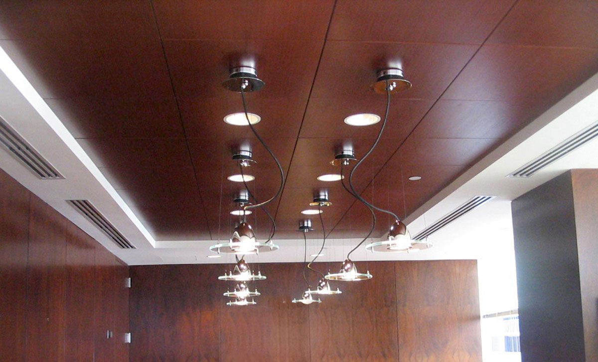 Wooden Suspended Ceiling Tile With Loudspeaker Squares Rulon