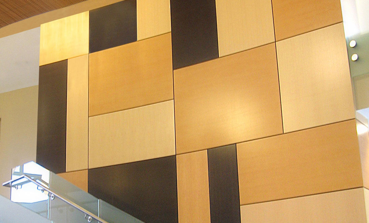 Wall-mounted acoustic panel / wooden / smooth / decorative - FLAT ...