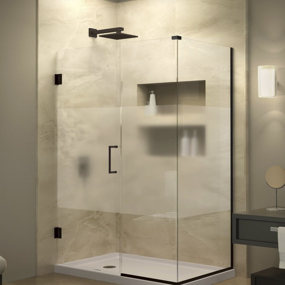 Swing shower screen / corner UNIDOOR PLUS PRIVACY DreamLine ...
