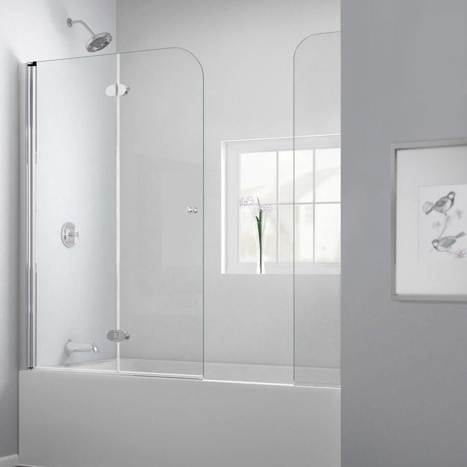 Folding bath screen - AQUAFOLD EXTENDER - DreamLine