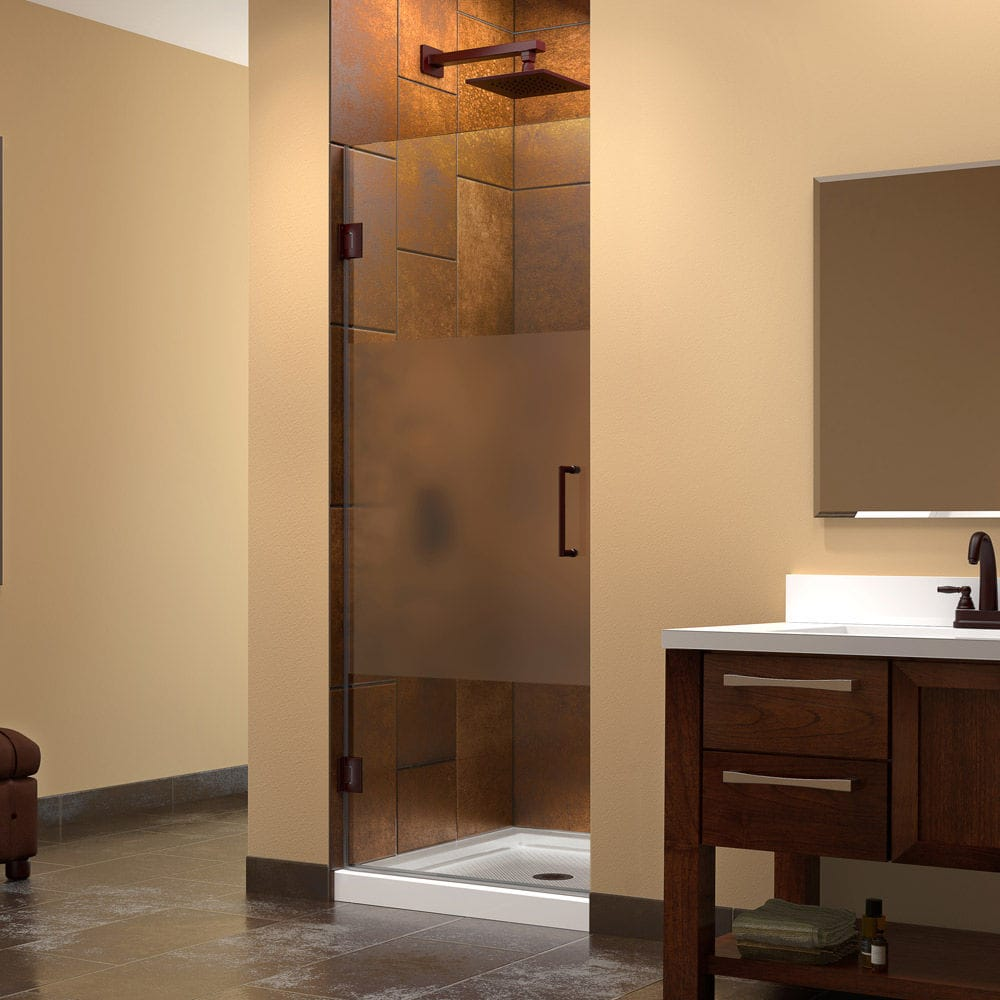 Swing shower screen / for alcoves - UNIDOOR PRIVACY - DreamLine