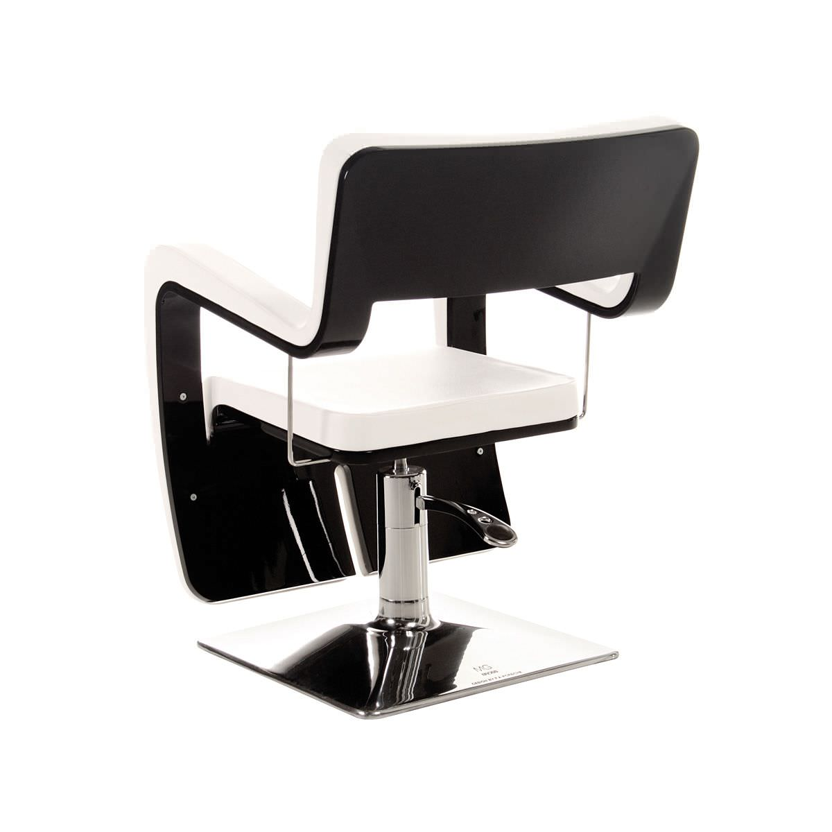 vinyl beauty salon chair central base with hydraulic pump swivel black design
