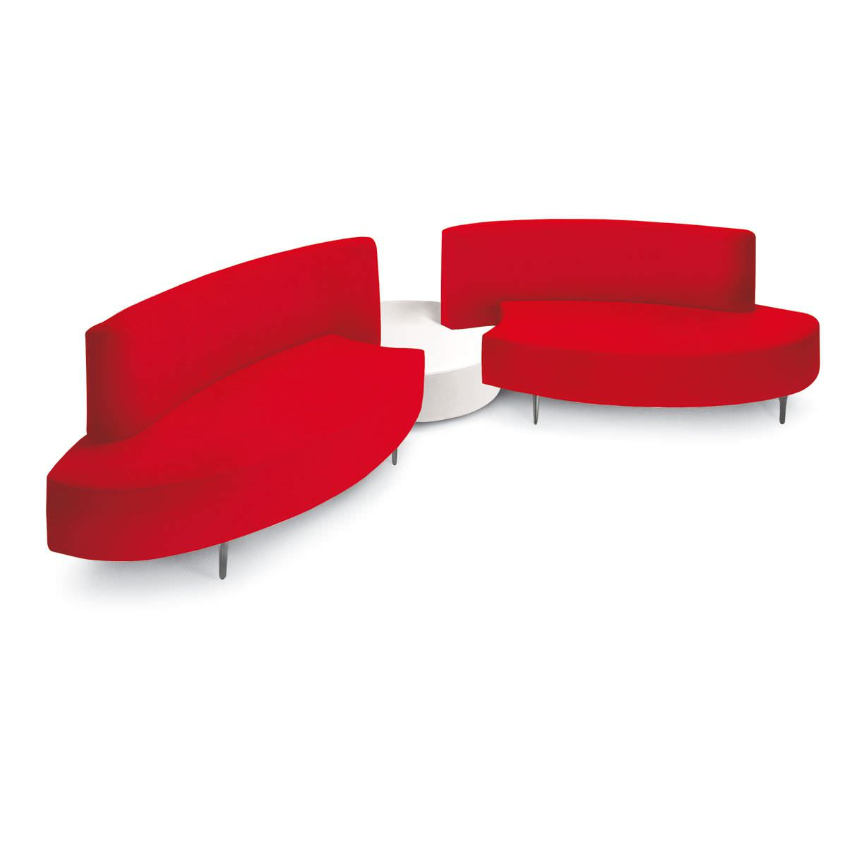 Modular Sofa Contemporary For Reception Areas Polished Aluminum First Cl Sundial