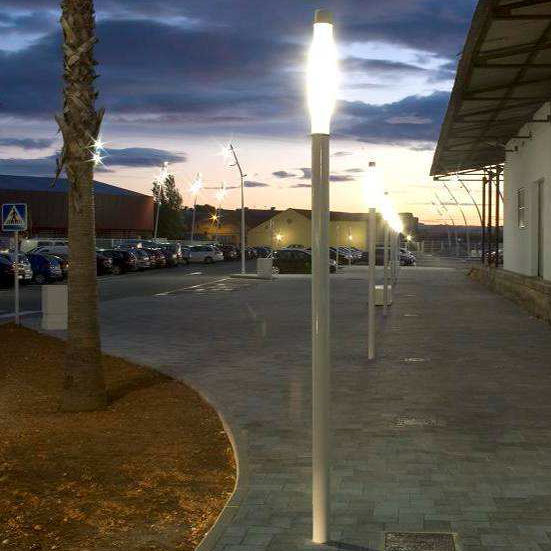 contemporary light column stainless steel methacrylate