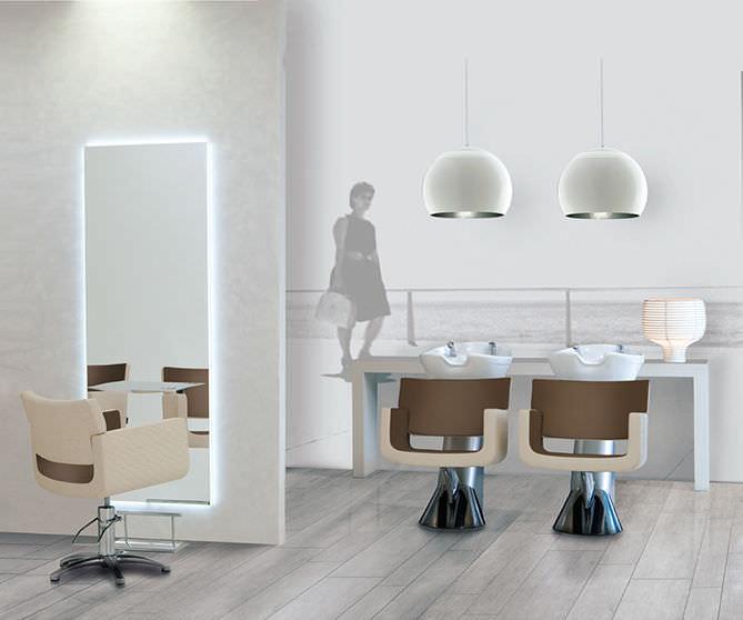 Polyurethane Beauty Salon Chair / Swivel / With Hydraulic Pump / Star Base  ...