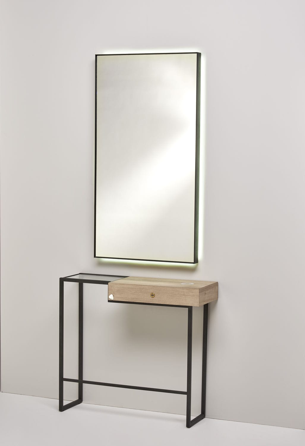Glass dressing table - Contemporary Dressing Table Wooden Metal Tempered Glass Well Smart 2080 Bmp Srl