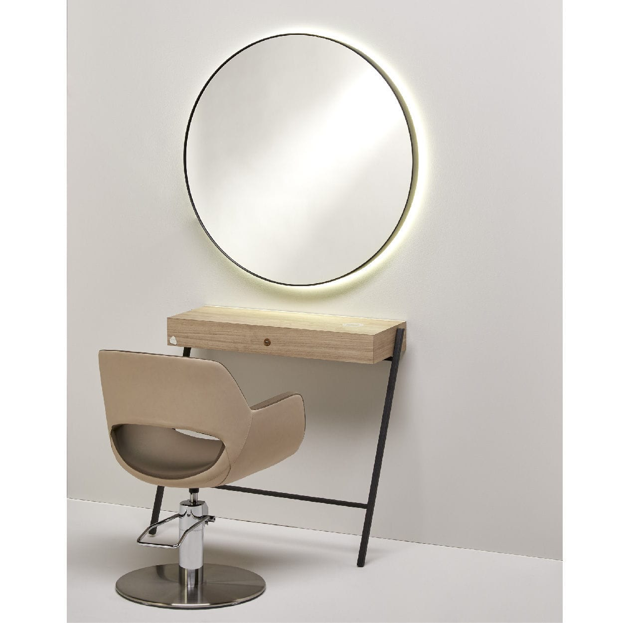 Contemporary Dressing Table / Wooden / Metal / Wall Mounted   BEAUTY SMART