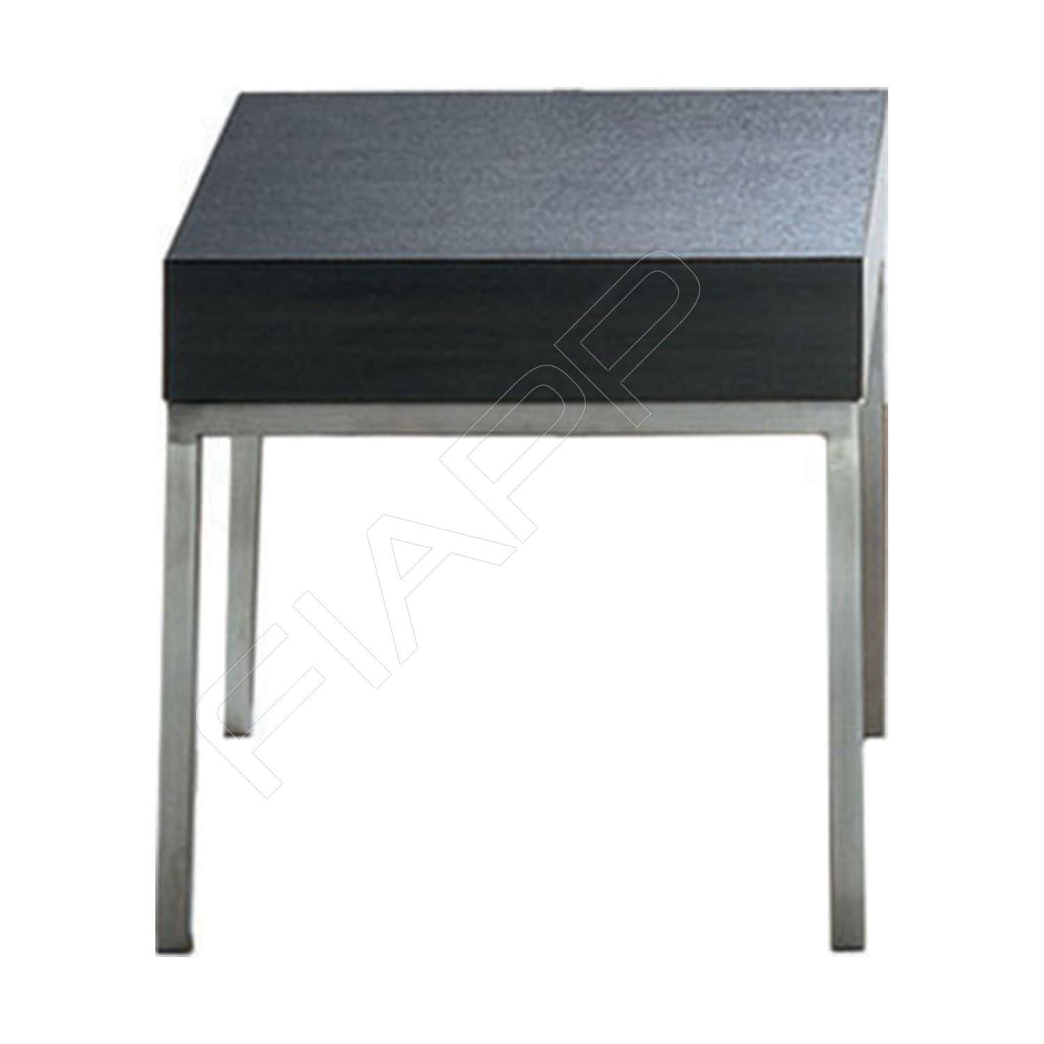 Contemporary coffee table stainless steel square mercial