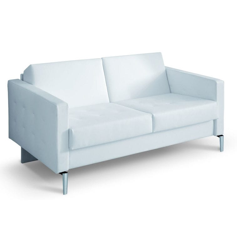 Contemporary Sofa For Reception Areas Vinyl Beauty Salons Lounge