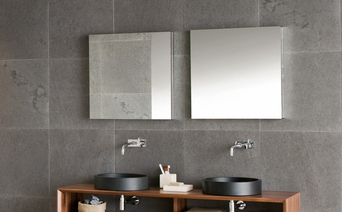... Wall Mounted Bathroom Mirror / Contemporary / Square / Round ...