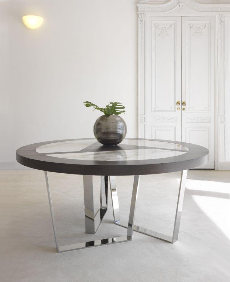 Contemporary table / marble / round - CRICKET by Saviz Yaghmai ...