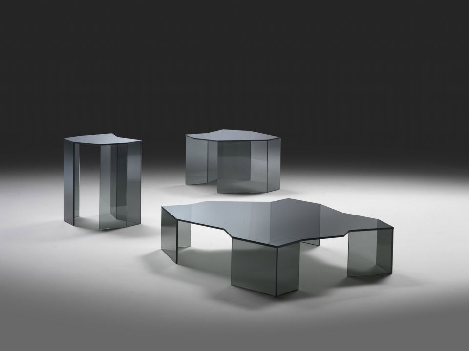 Contemporary Coffee Table / Glass   ICEBERG By Marco Cocco
