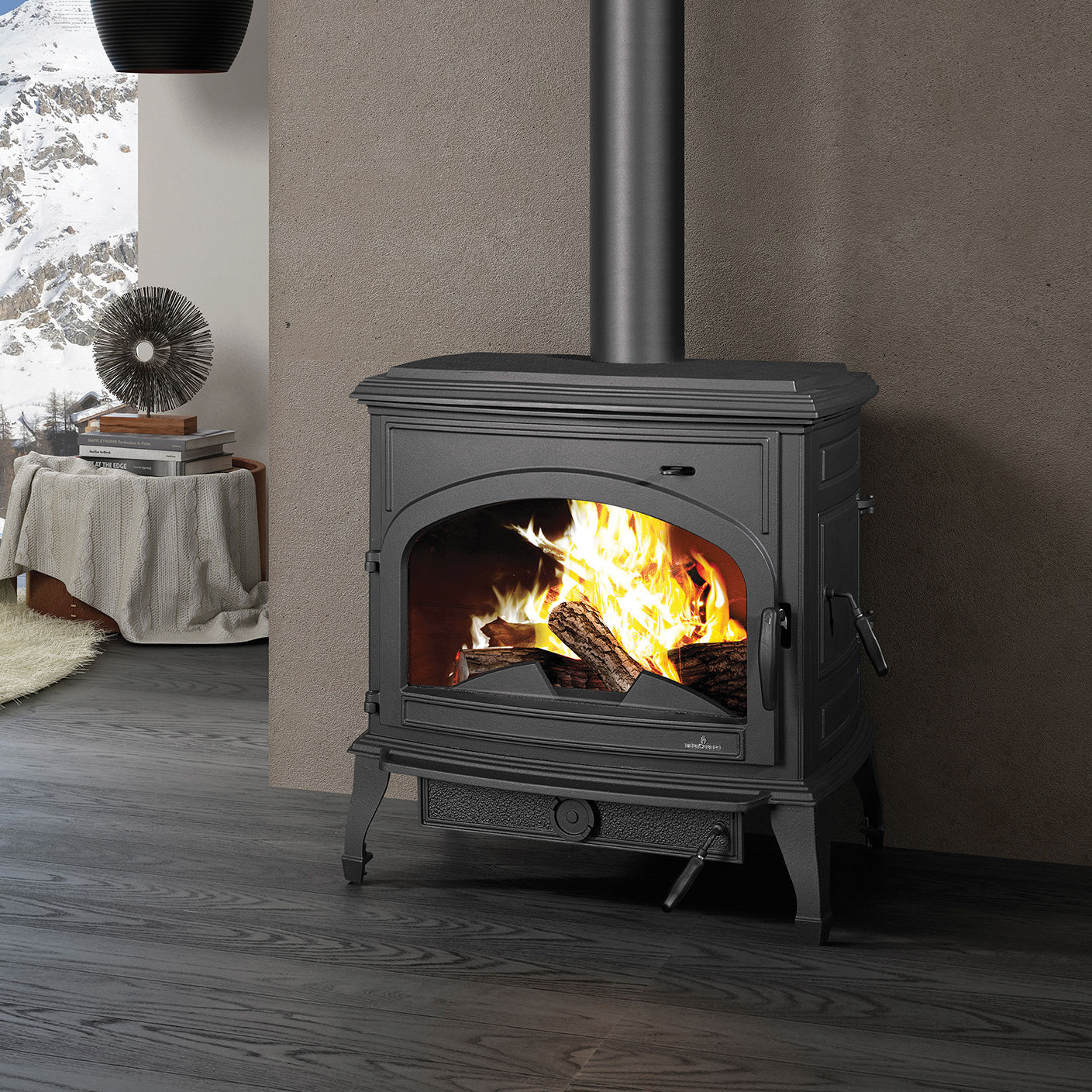 Multi-fuel heating stove / traditional / cast iron - ETNA - Bronpi ...