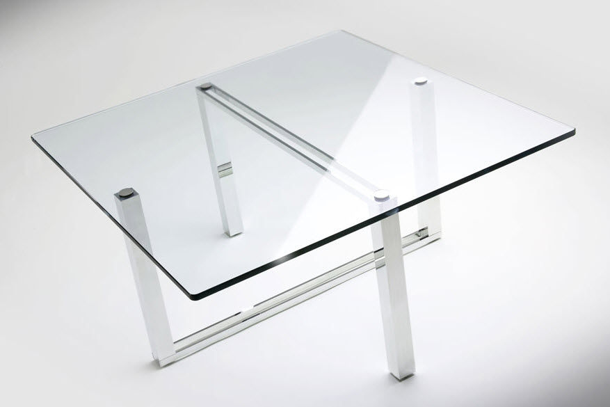 Etonnant Contemporary Coffee Table / Glass / Square   STREAMLINE