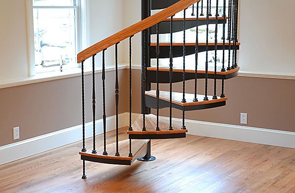 Marvelous ... Spiral Staircase / Metal Frame / Wooden Steps / Without Risers ...