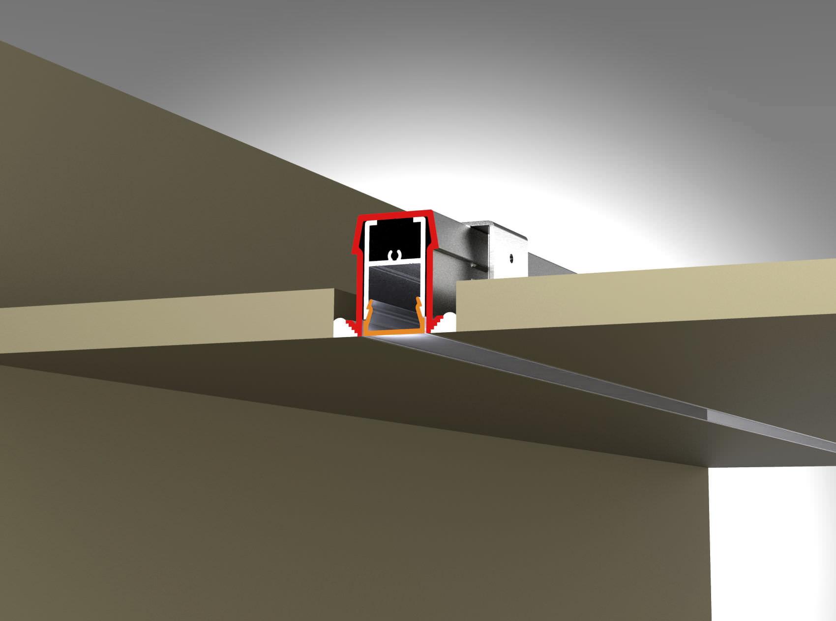 Built-in lighting profile / LED / modular - 1U R - TAL