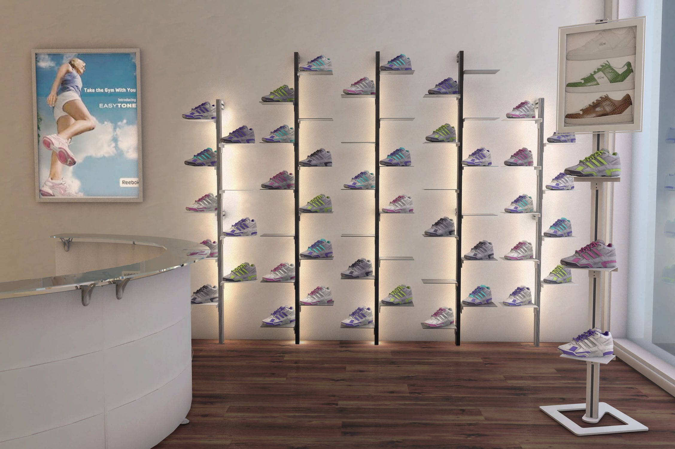 Shoe Display Rack Aluminum Inuno Studio T Videos