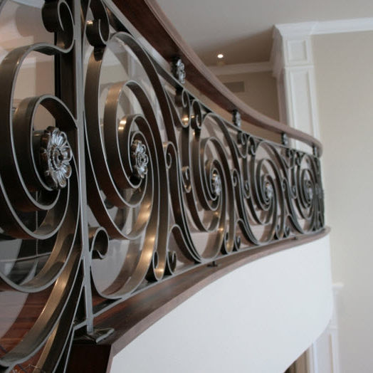 Wrought Iron Railing With Panels Indoor For Stairs Ocean 1520 By Martin Battig