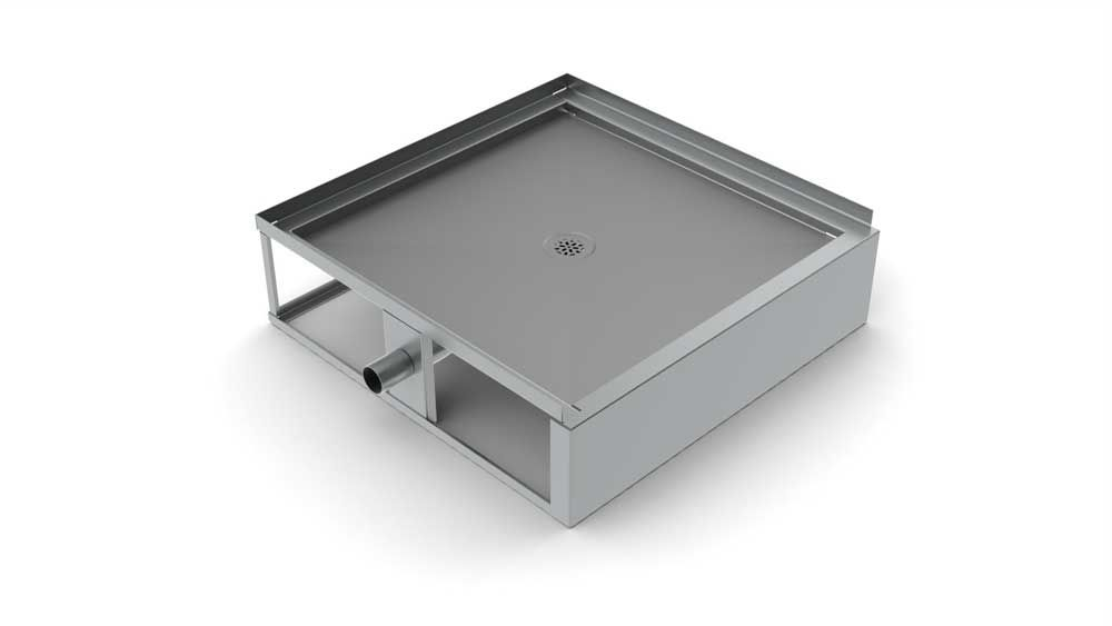 Square Shower Base / Stainless Steel