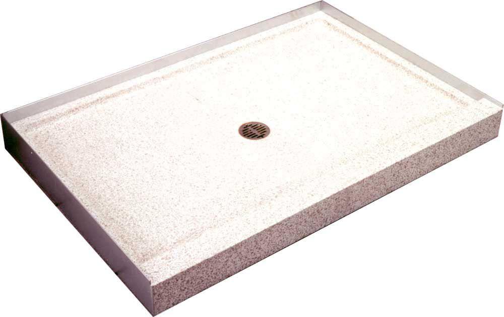 Rectangular Shower Base / Natural Stone   TERRAZZO WARE® : SBR 4832 3F