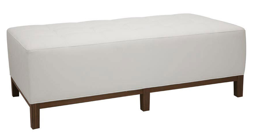 Perfect Contemporary Upholstered Bench / Leather / White   KAIROS