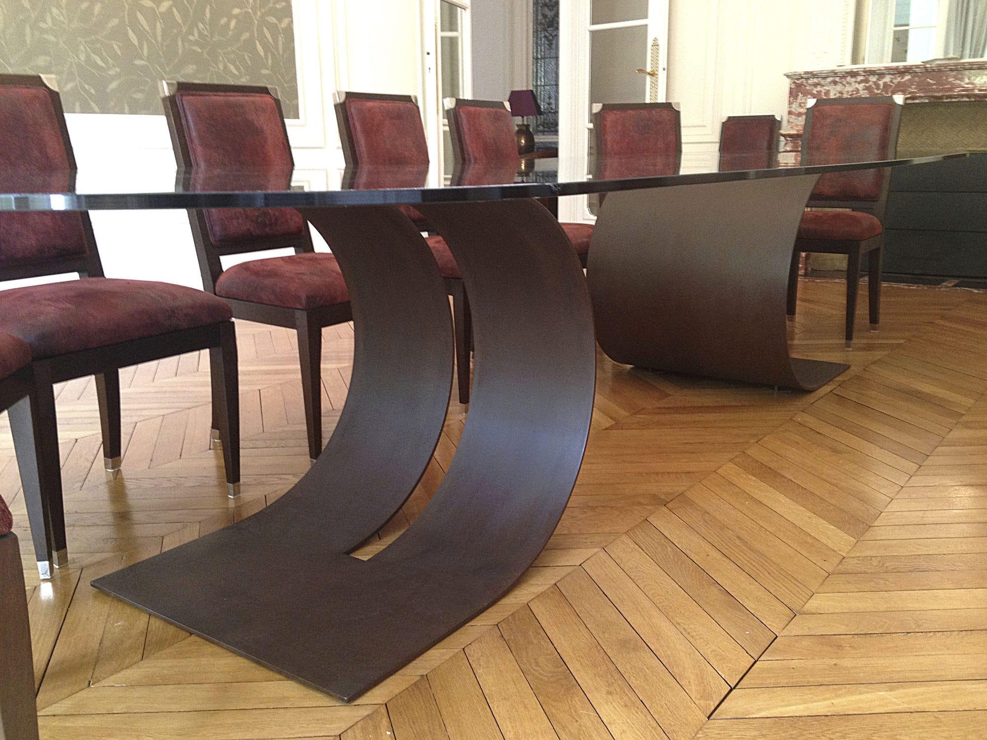 ... Contemporary Boardroom Table / Metal / Lacquered Metal / Rectangular  CARLOVI GONZALO DE SALAS