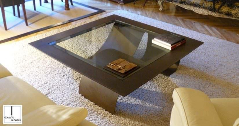 ... GONZALO DE SALAS Contemporary Coffee Table / Glass / Square   TSUNAMI Images