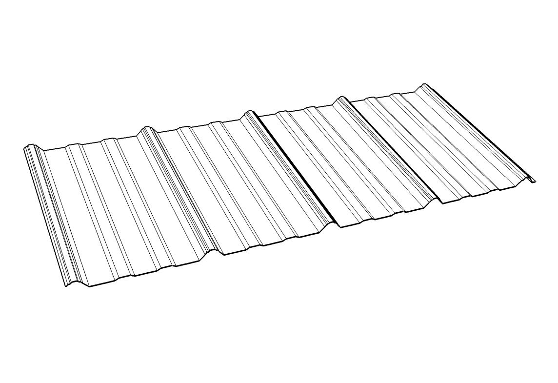 Polycarbonate Roofing Panel / With UV Protection / Corrugated