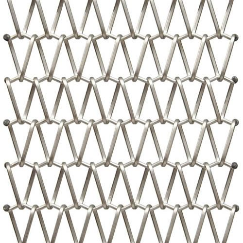 Wire solar shading mesh / for walls / stainless steel / triangular ...