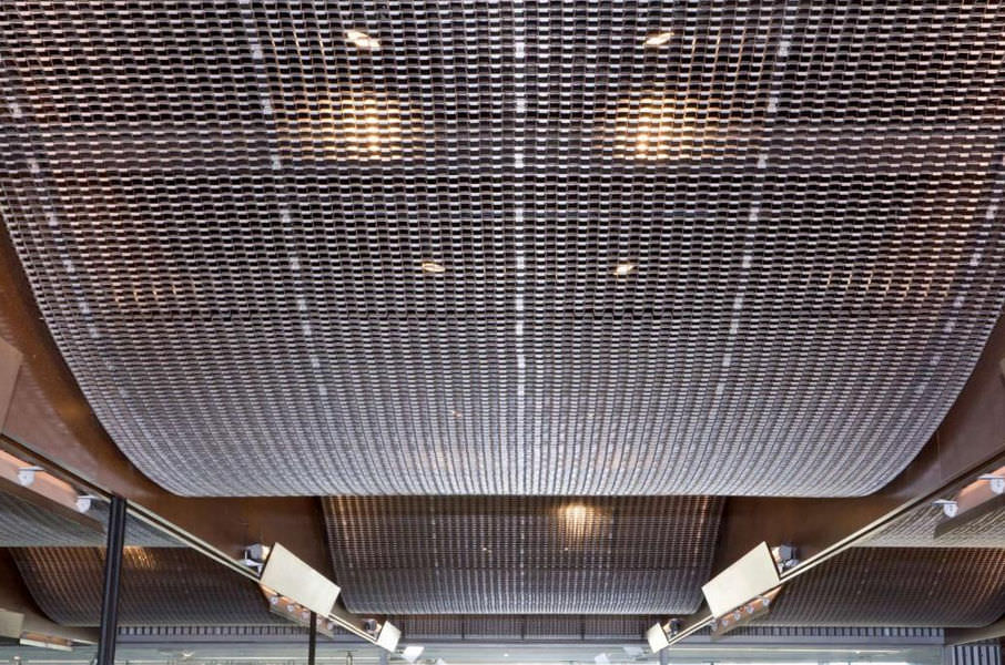 False ceiling woven wire fabric steel close knit mesh