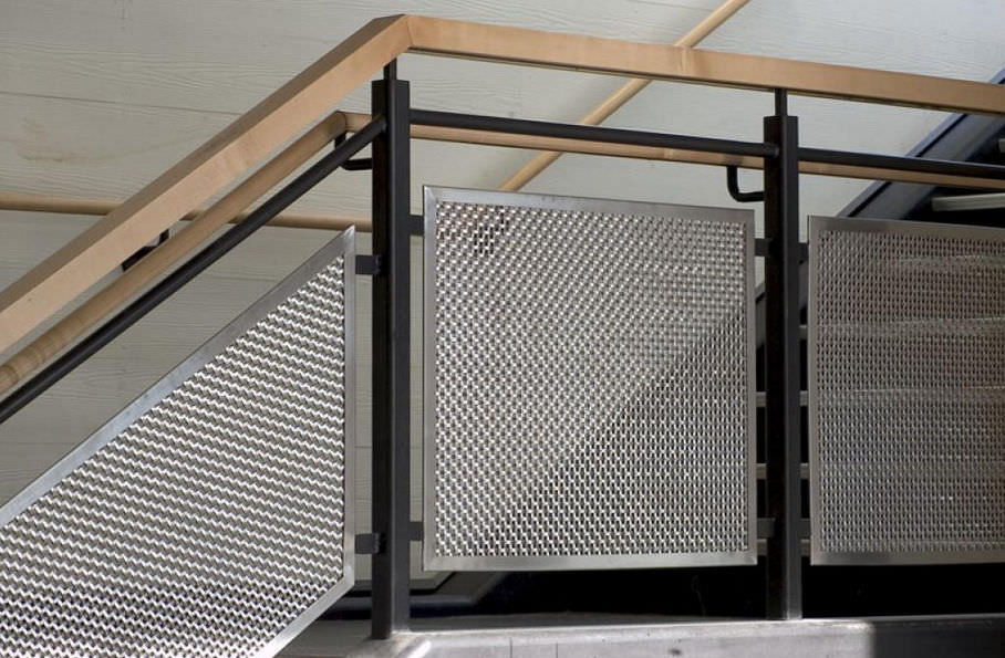 Railing woven wire fabric / metal / tight mesh - RUSSELL TOWERS ...