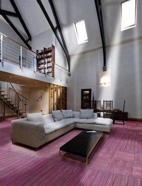 Engineered parquet flooring / glued / purpleheart / painted PURPLEHEART  Quadrolegno - Engineered Parquet Flooring / Glued / Purpleheart / Painted