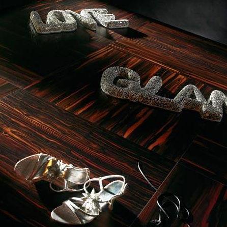 Engineered Parquet Floor Glued Ebony Oiled Macassar