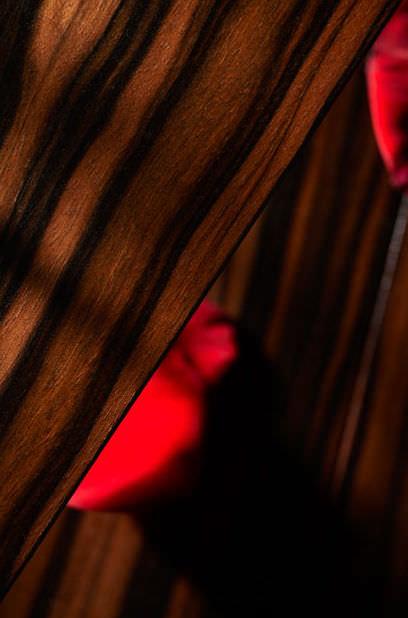Engineered Parquet Floor Glued Ebony Oiled Makassar