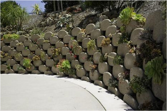 Concrete retaining wall for garden enclosures GARDEN WALLS
