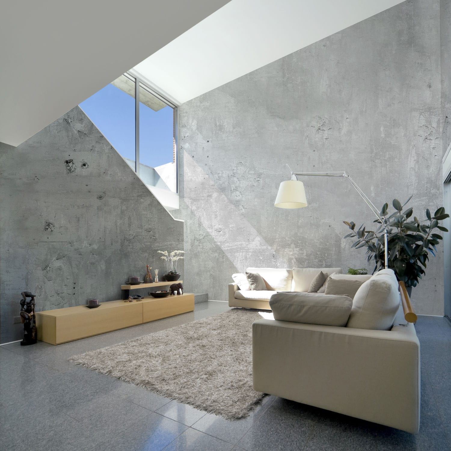Industrial Style Wallpaper / Urban Motif / Concrete Look / Gray   BM186
