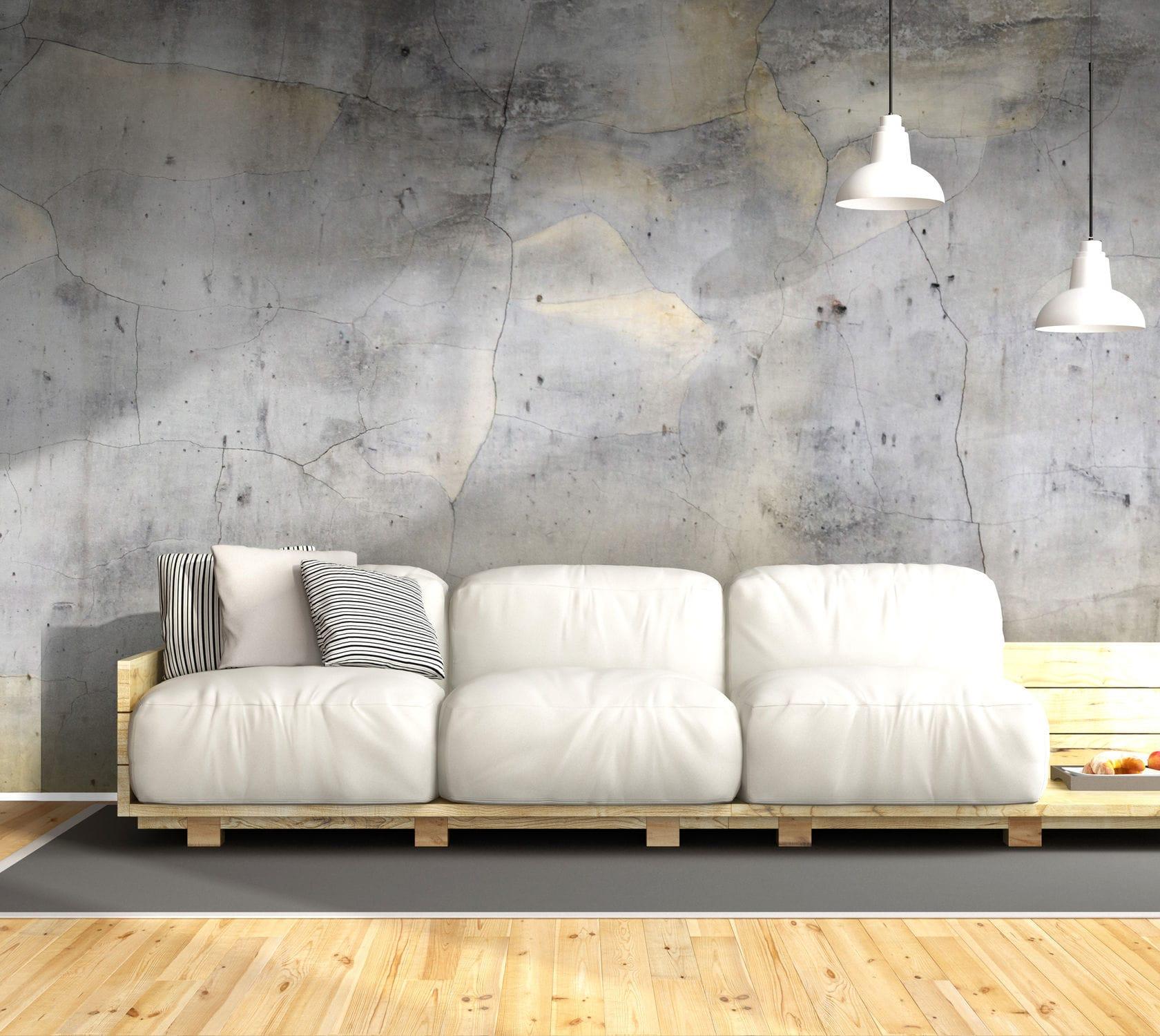 contemporary wallpaper / urban motif / concrete look - BM180 GOLD 1 & Contemporary wallpaper / urban motif / concrete look - BM180 GOLD 1 ...
