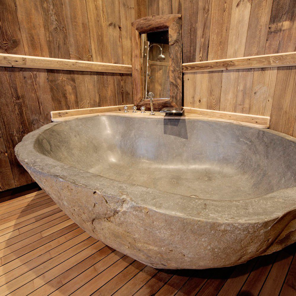 Free-standing bathtub / stone resin - RIVER STONE - SDA Decoration