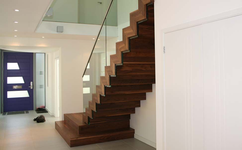 Straight staircase / steel frame / wooden steps / with risers ... on cheap house designs, tree house designs, fourplex house designs, single level house designs, pyramid house designs, spanish house designs, frame home designs, wheel house designs, 2015 house designs, 3 story house designs, cabin designs, 2 story house designs, off the grid house designs, log house designs, wooden house designs, shade house designs, best house designs, craftsman house designs, nice house designs, small house designs,