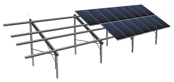 Ground-mount mounting system / for tiled roofs / for photovoltaic ...