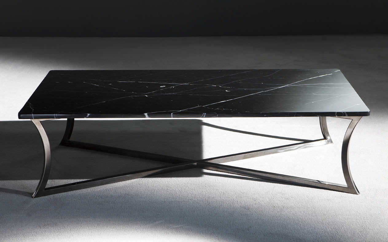 Superieur Contemporary Coffee Table / Metal / Marble / Rectangular ...