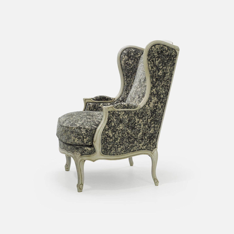Louis XV Style Armchair / Beech / Fabric / Wing   5025
