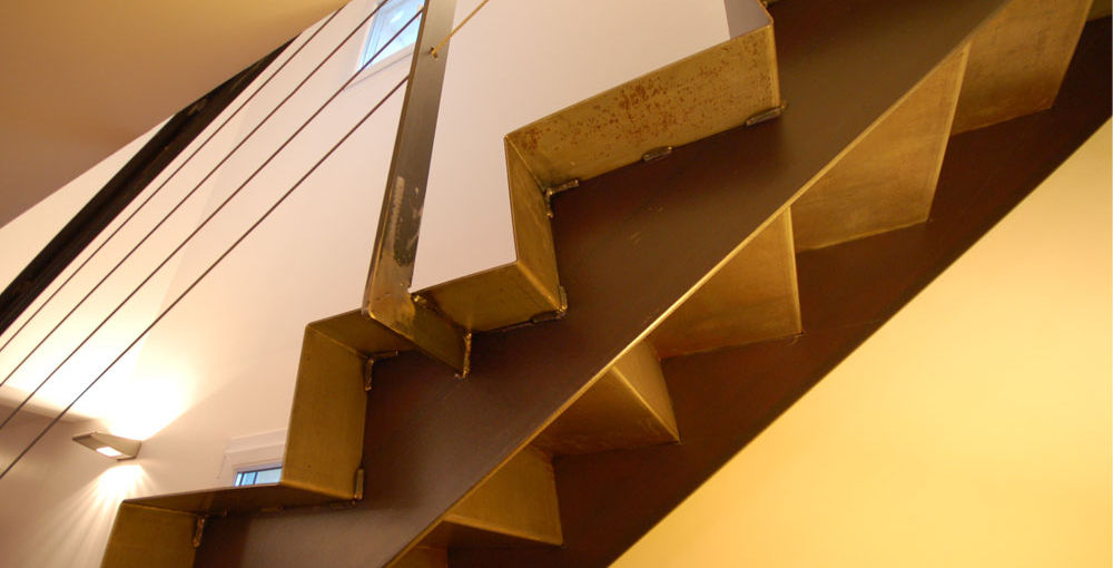 ... Straight Staircase / Metal Steps / Metal Frame / Without Risers AKKO :  AKK003 KOZAC