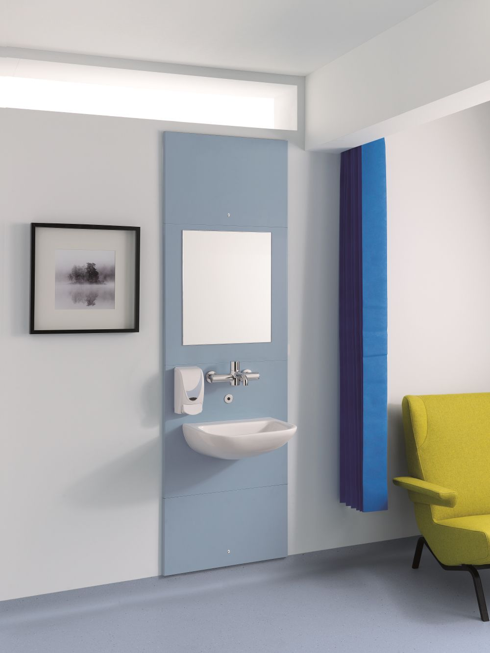 decorative panel / metal / bathroom / wall-mounted - recessed unit